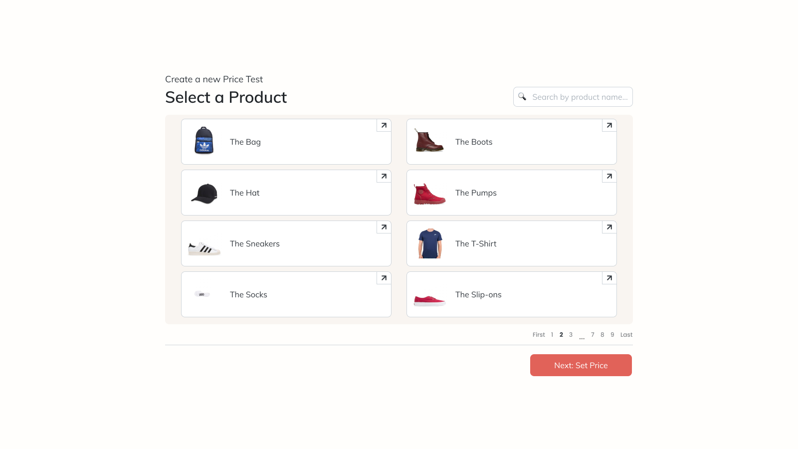 Pick a product