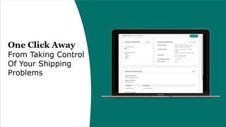 Take control of your shipping insurance problems with one click.