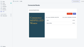 connect and disconnect books within the Lulu Direct app