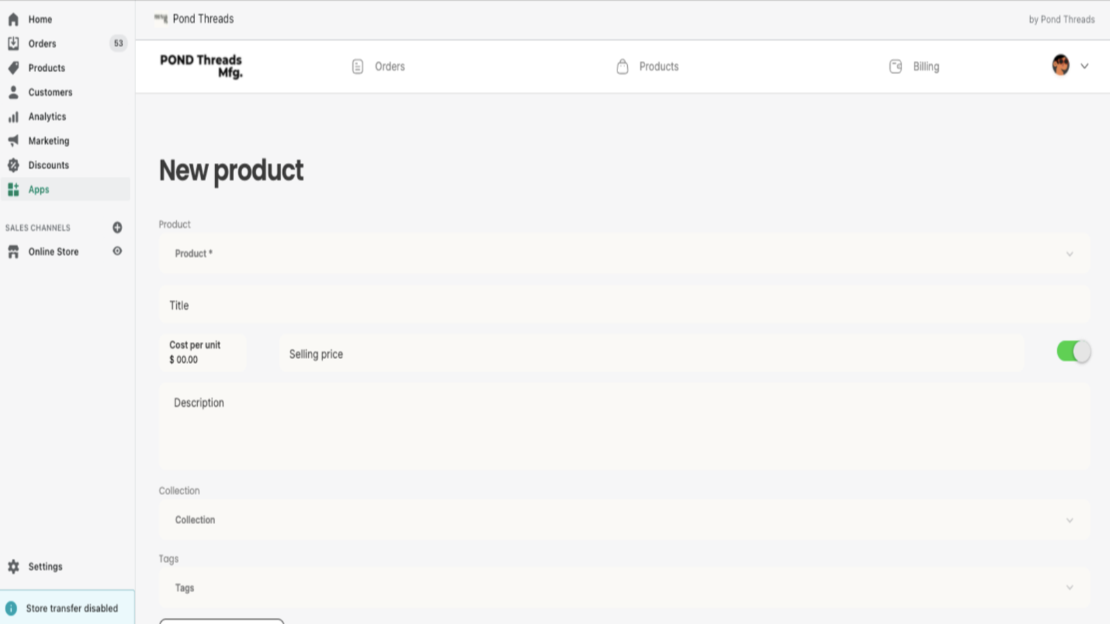 Create new products directly on the plugin, fully integrated.