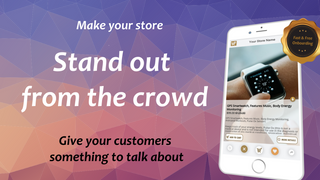 viral user experience, swiping product slides like a slide show