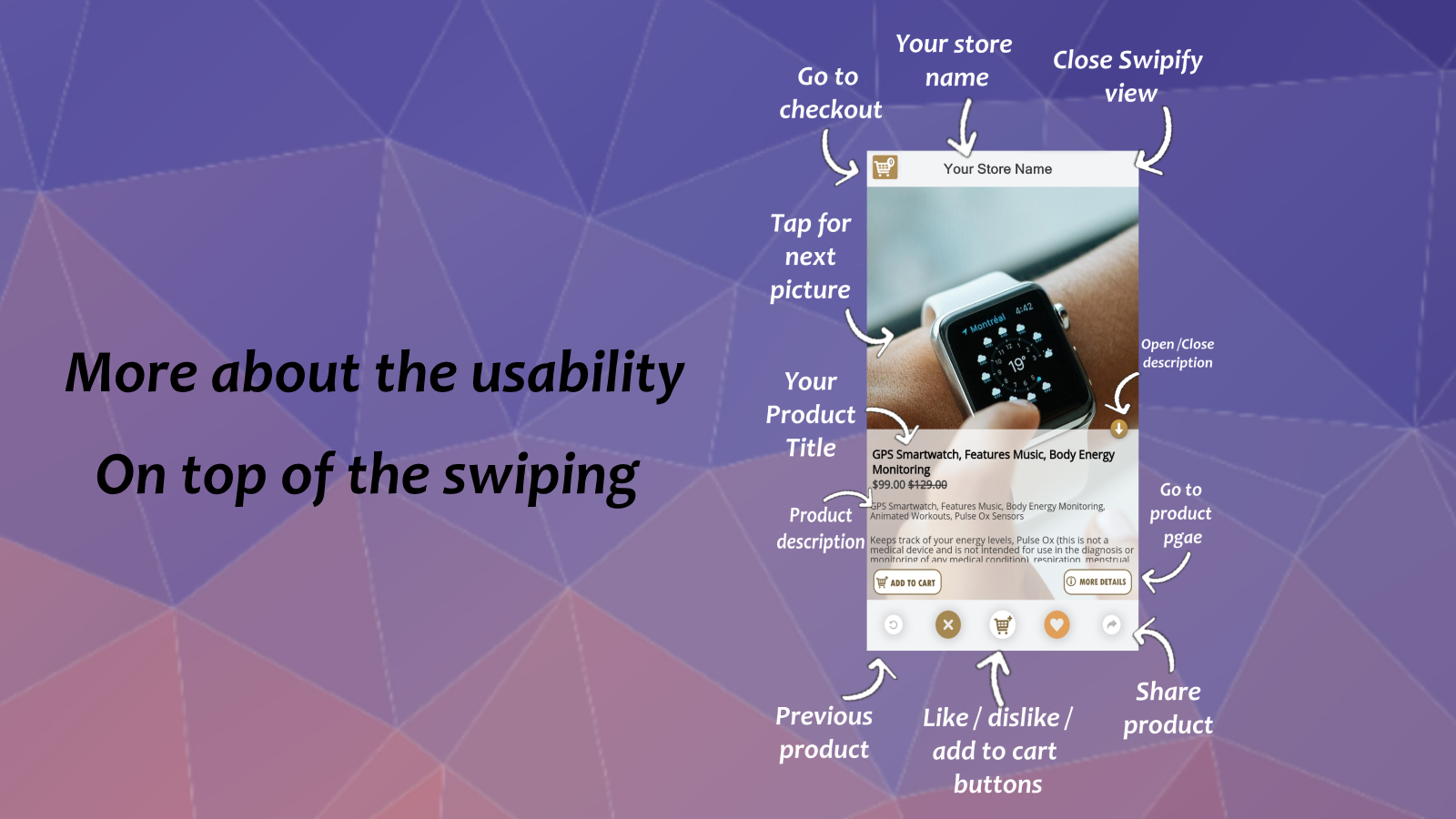 Mobile slider usability, slide and swipe to explore and more