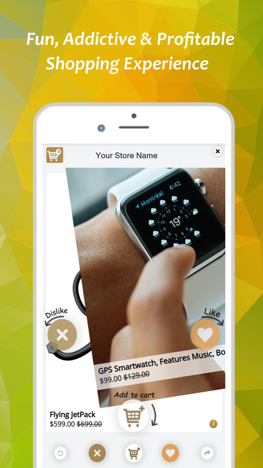 Fun, profitable shopping experience Designed sales slider feed