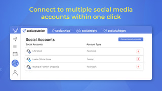 Connect to multiple social media accounts within 1 click