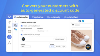 Convert your customers with auto-generated discount code