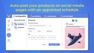 Auto post and random post your products on social media