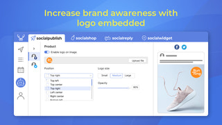Increase brand awareness with logo embedded