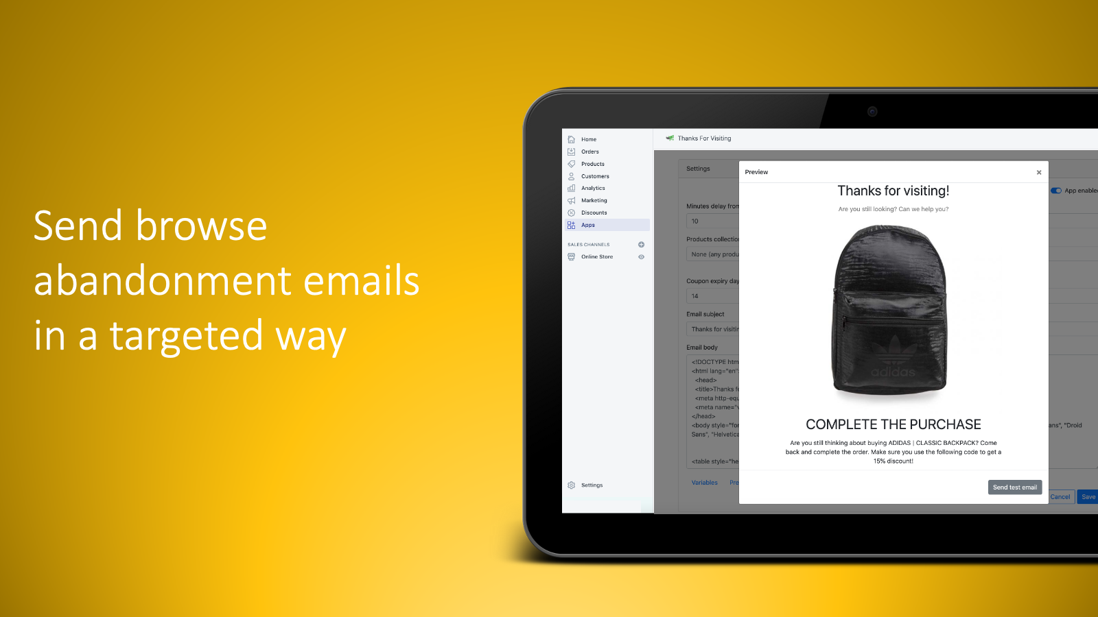 Send browse abandonment emails in a targeted way