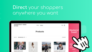 SideMonkey Sidebar banner - Better direct your shoppers
