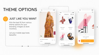 The only Shopify mobile app builder with theme options
