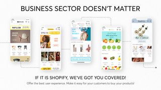 Best native iOS and android Shopify mobile app
