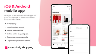 Launch native iOS and Android mobile store in seconds.