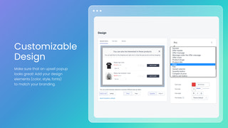 product upsell shopify - design popup