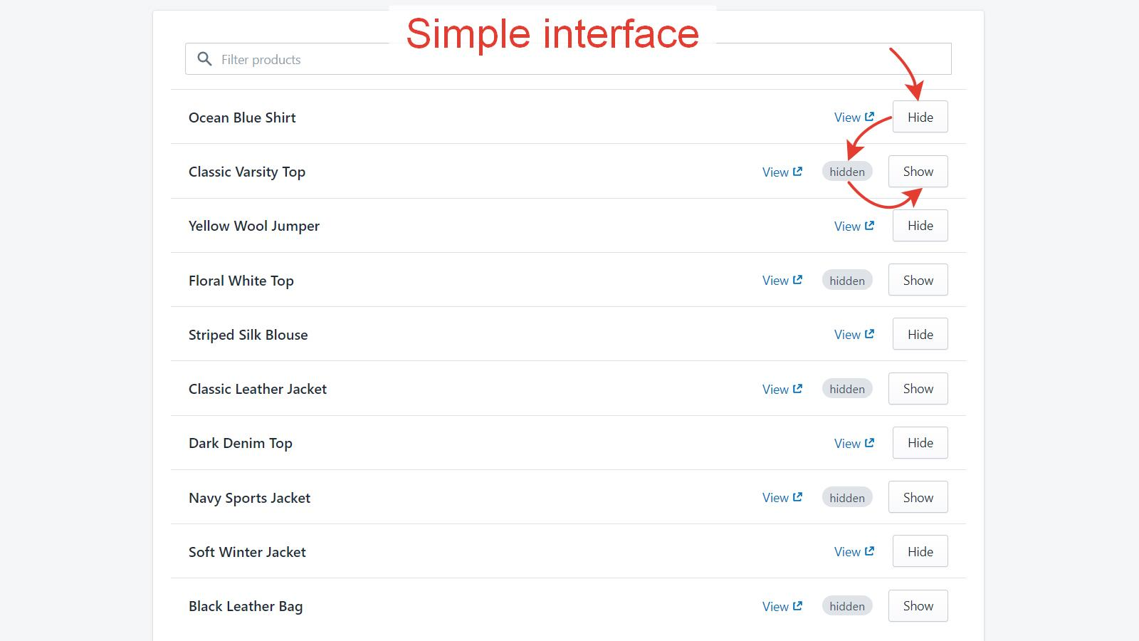 Simple interface