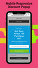 Mobile responsive automatic discount pop up