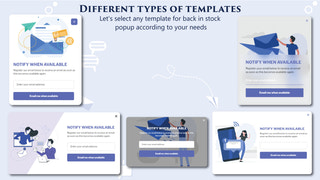 Multiple popup templates