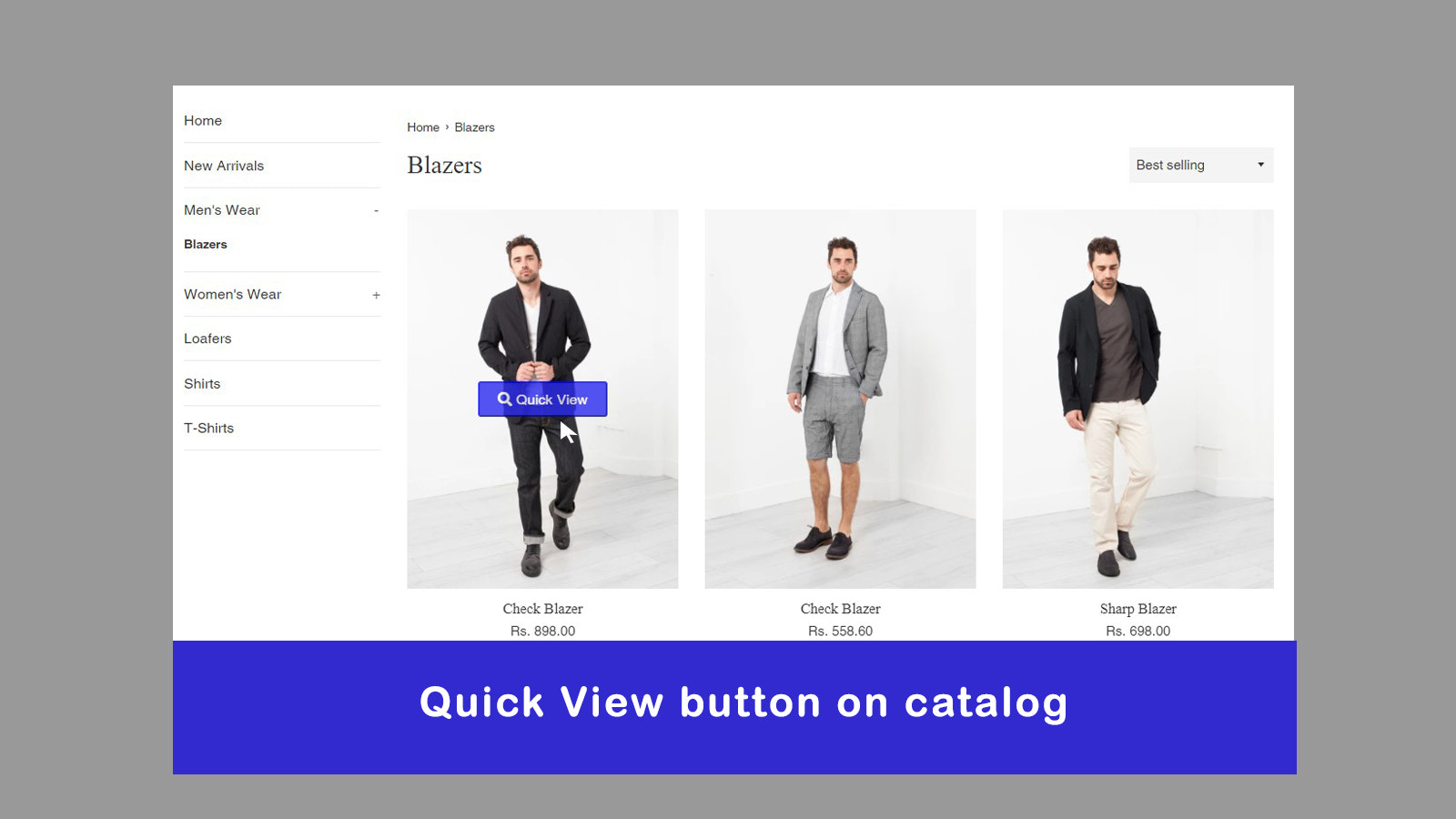 Quick View Button