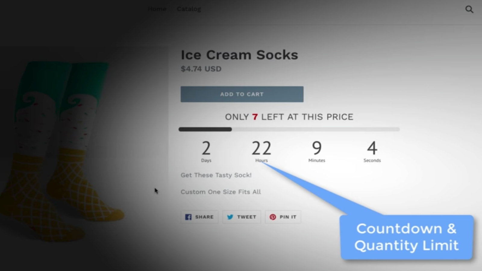Product Page Timer and Items Left Count Down