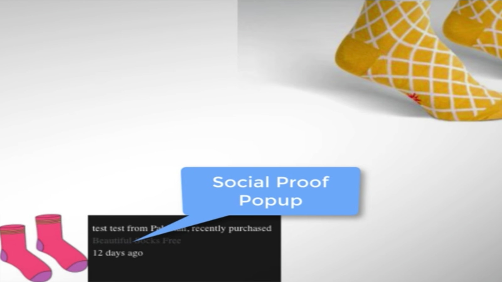 Social Proof Products Purchased By - Pop Up