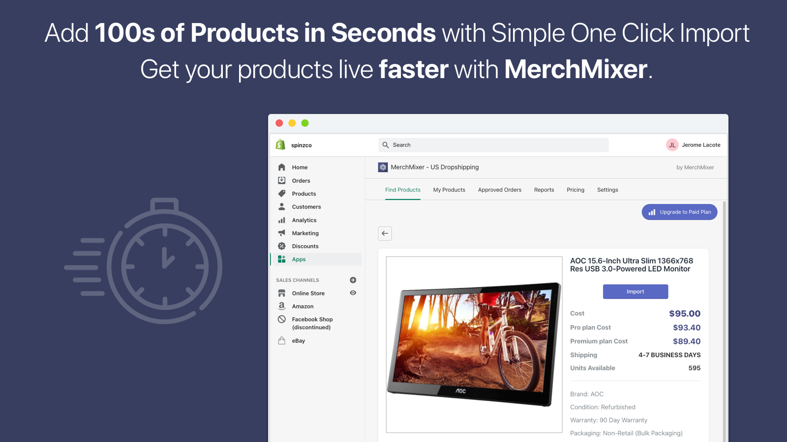 Import Products to your Shopify Store