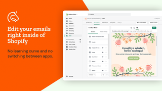 Seguno email editor right inside of Shopify