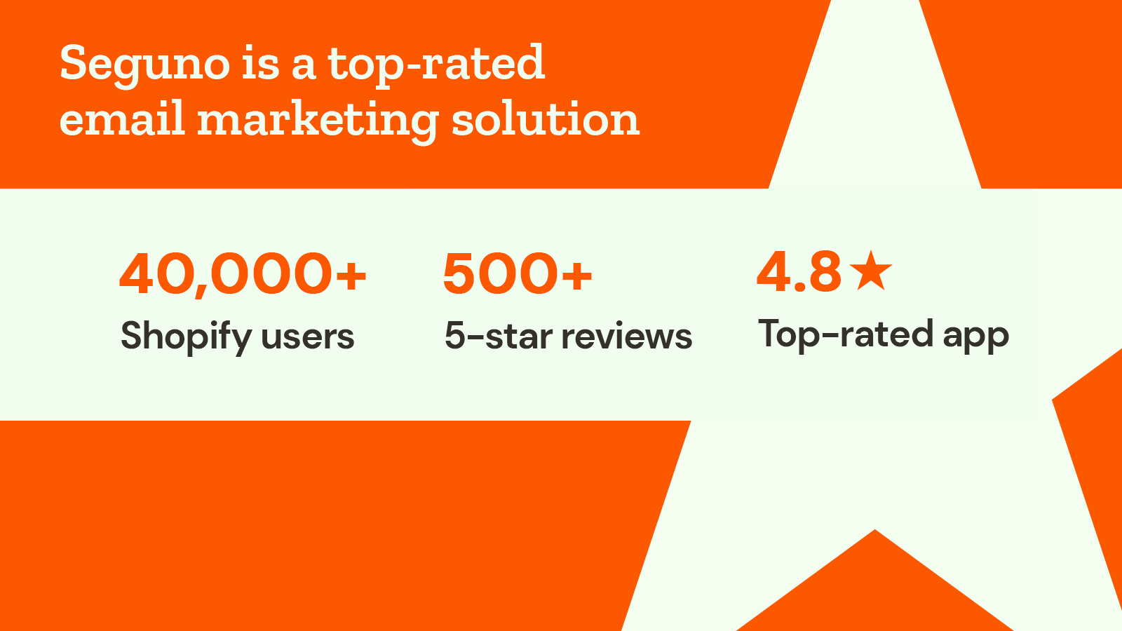 Seguno social proof with install stats and top App Store rating