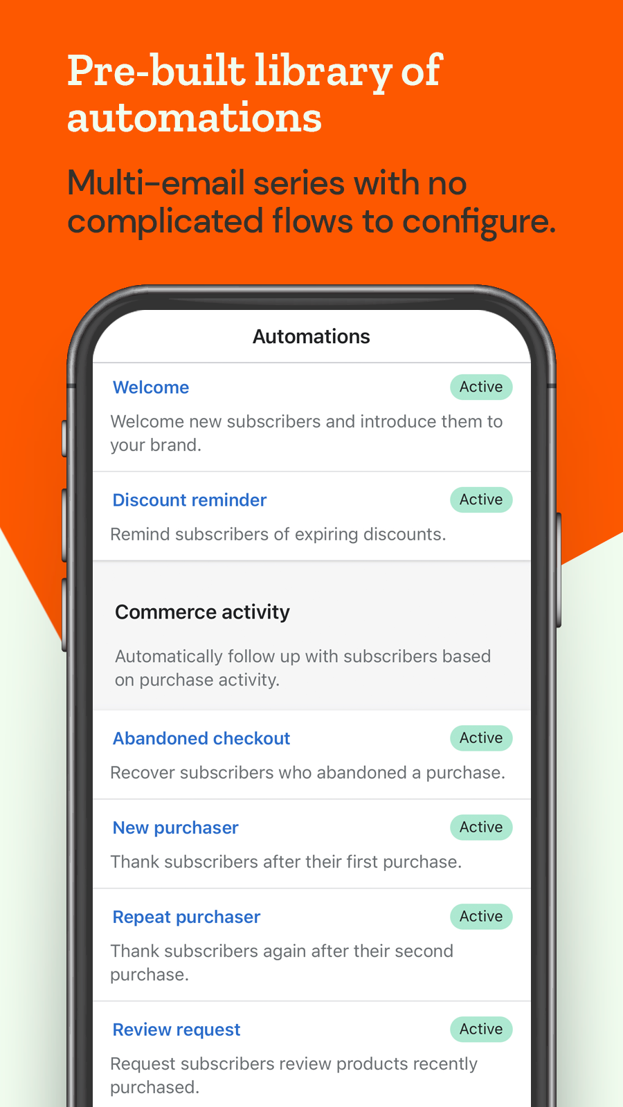 Seguno pre-built library of automated email series