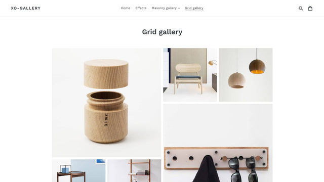 Gallery front grid demo