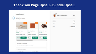 Store thank you page upsell