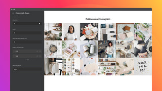Set the number of columns and rows of the Instagram grid