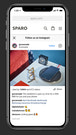 Special mobile Instagrampopup layout for better user experience