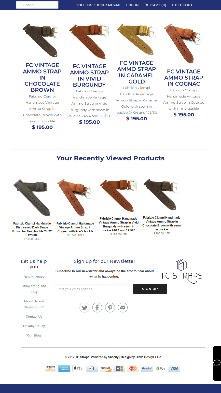 Mobile friendly recently viewed products