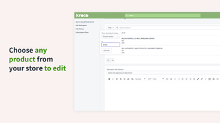 Select your products to bulk edit.