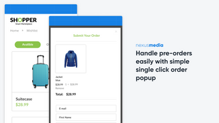 Handle pre-orders easily with simple single click order popup