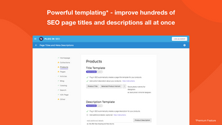 Templating system for bulk SEO edits