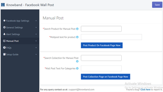 Manually Post Product & Collection Page