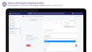 Select which Shipping Profile a Condition is assigned to