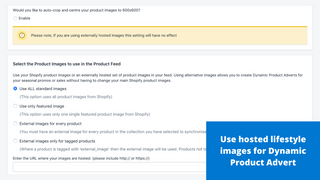 Use hosted lifestyle images for Dynamic Product Adverts
