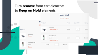 Turn Remove button to Save for Later wishlist