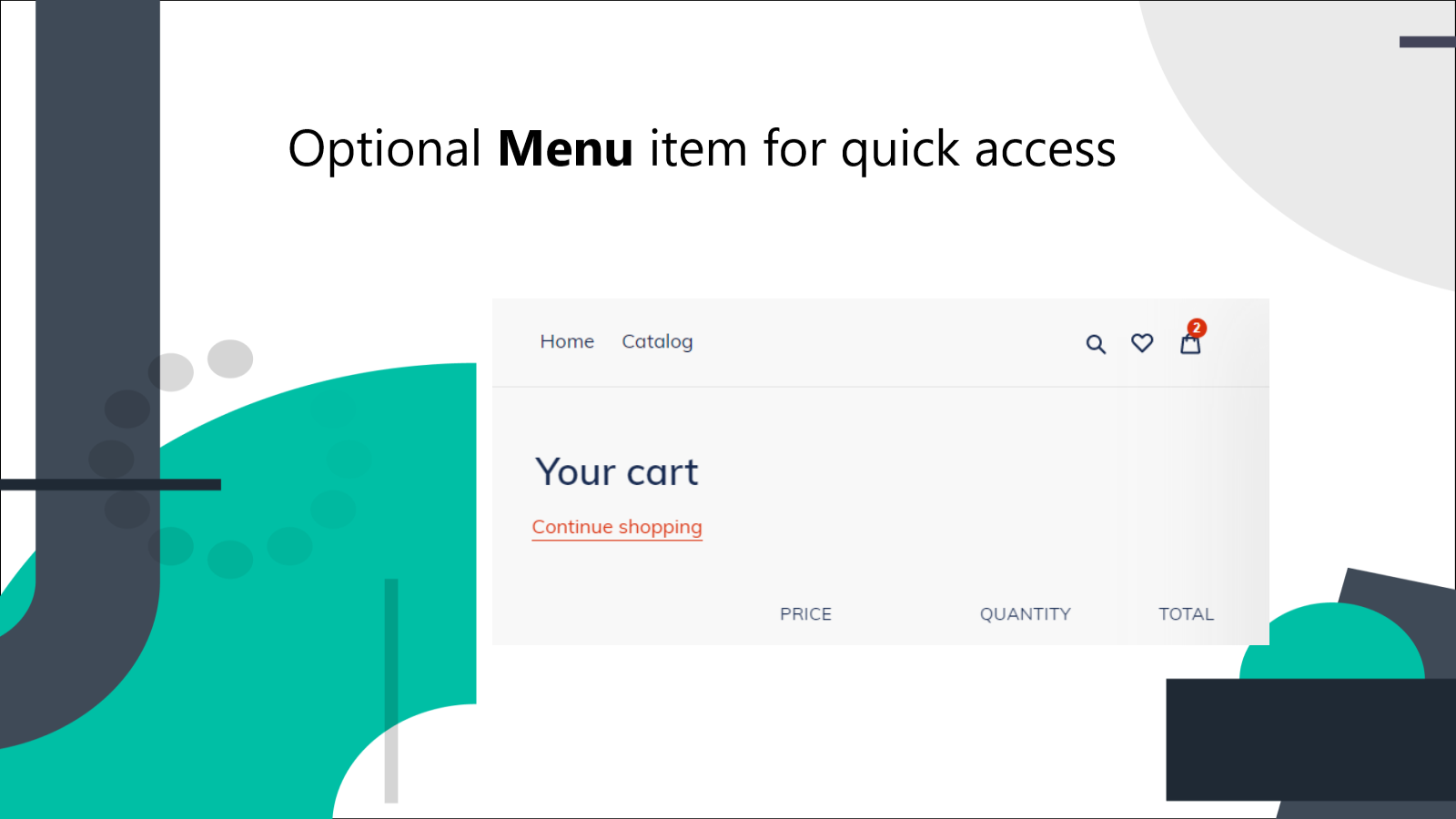 Optional Menu Item to quickly access Wishlist