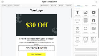 Create emails with drag-and-drop designer