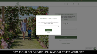 Style our self-invite site link and modal to fit your site style
