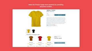 Product Bundle in Product Detail Page