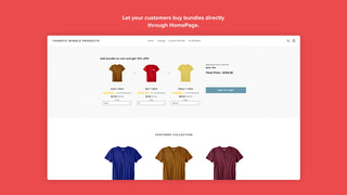 Bundle Products in Homepage
