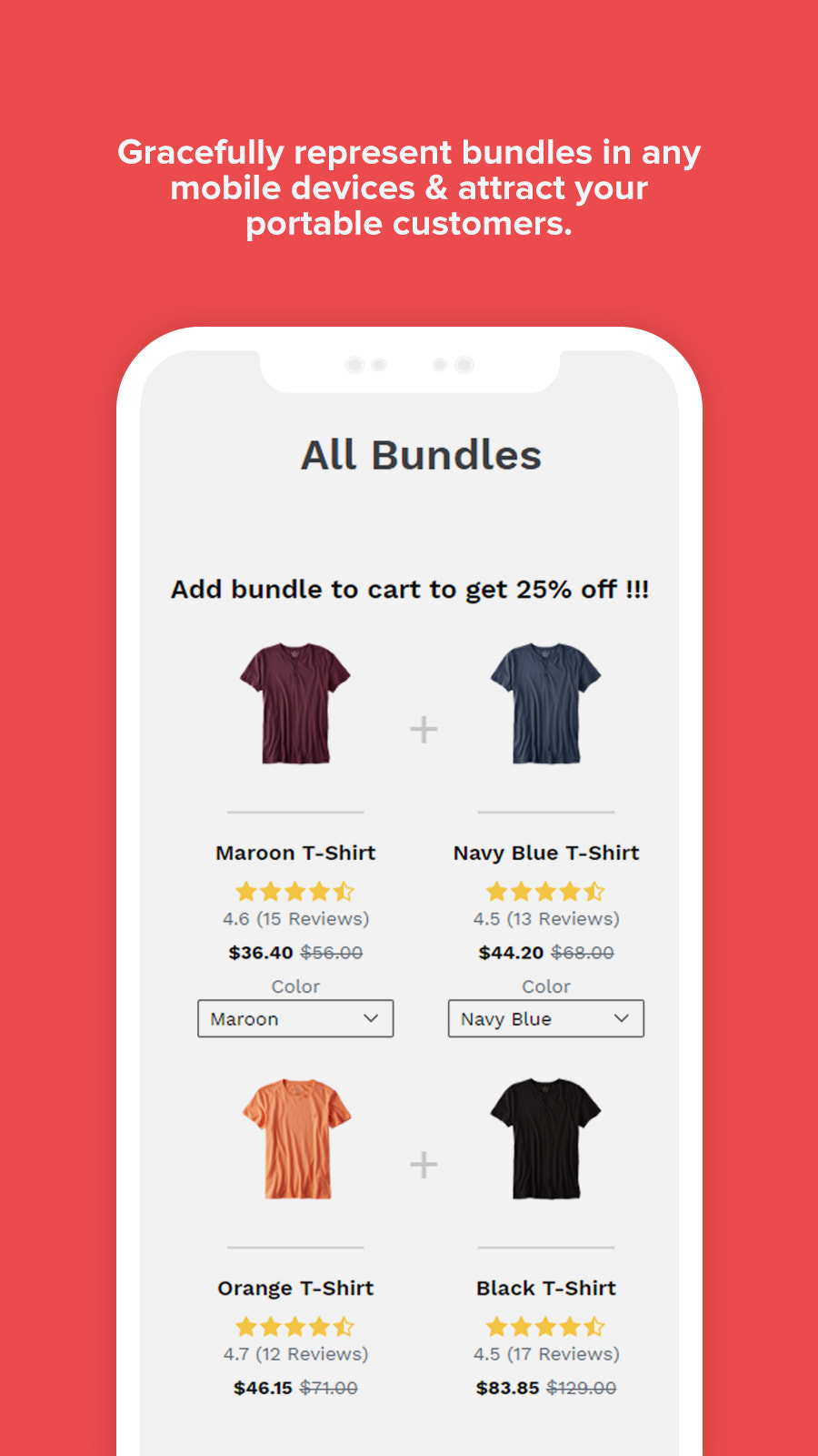 Mobile View of Product Bundle