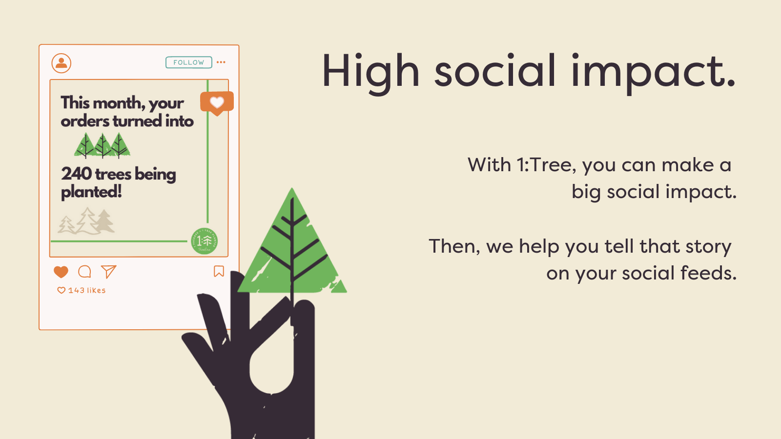 High social impact that we help share on your social feeds*.