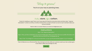 Activate your subscription. Start offsetting carbon.