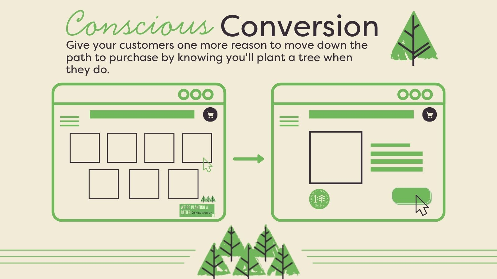 Make every conversion an eco-conscious one.