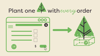 Plant 1 tree with every order.