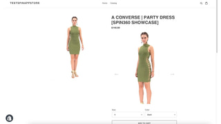 Customer view of the spins on store pages